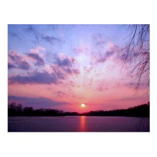 Cartão Postal Por do sol 1 de Michigan