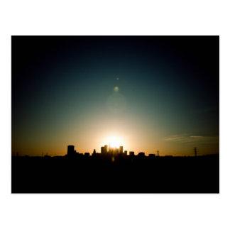 Cartão Postal Por do sol azul em Los Angeles