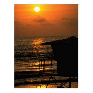 Cartão Postal Por do sol bonito: Carlsbad, Califórnia