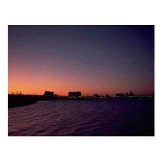 Cartão Postal Por do sol bonito: Corpus Christi, twighlight,