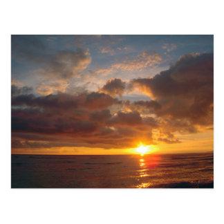 Cartão Postal Por do sol bonito de Maui