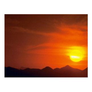 Cartão Postal Por do sol bonito: Deserto do norte, Paquistão