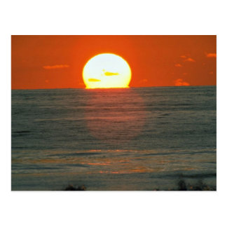 Cartão Postal Por do sol bonito: South Pacific, Tahiti