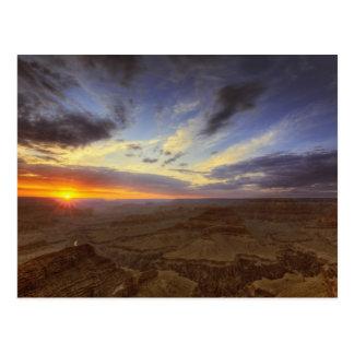 Cartão Postal Por do sol, borda sul do Grand Canyon, grande