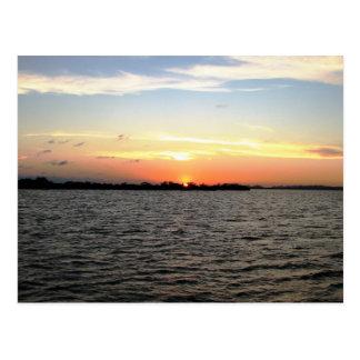Cartão Postal Por do sol, Cay dos manguezais, Belize
