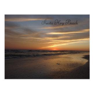 Cartão Postal Por do sol chave da praia do Siesta