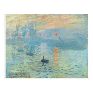 Cartão Postal Por do sol - Claude Monet