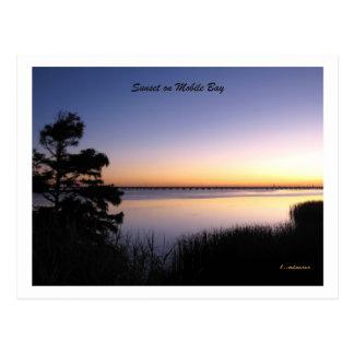 Cartão Postal Por do sol da baía móvel