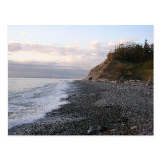 Cartão Postal Por do sol da ilha de Whidbey