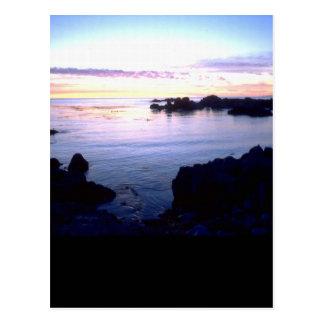 Cartão Postal Por do sol da praia