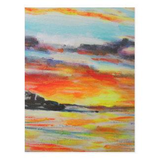 Cartão Postal Por do sol da praia de Bondi
