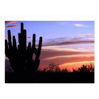 Cartão Postal Por do sol das montanhas de Catalina