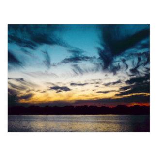 Cartão Postal Por do sol de Atlantic City New-jersey