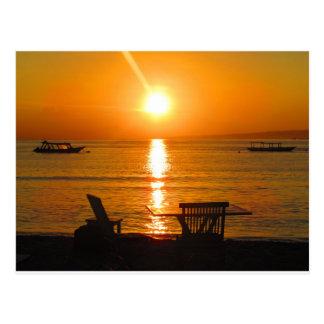Cartão Postal Por do sol de Bali Indonésia