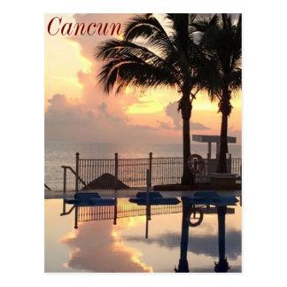 Cartão Postal Por do sol de Cancun