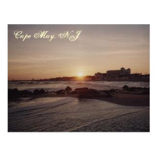Cartão Postal Por do sol de Cape May