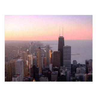 Cartão Postal Por do sol de Chicago