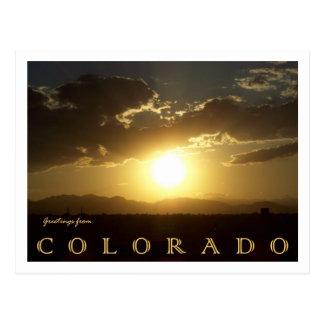 Cartão Postal Por do sol de Colorado