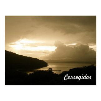 Cartão Postal Por do sol de Corregidor