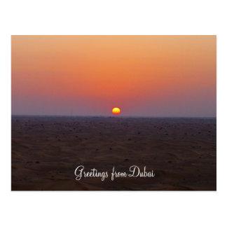Cartão Postal por do sol de Dubai