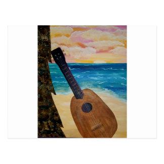 Cartão Postal por do sol de Havaí