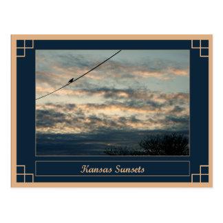 Cartão Postal Pôr do sol de Kansas