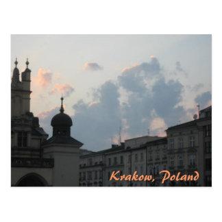 Cartão Postal Por do sol de Krakow