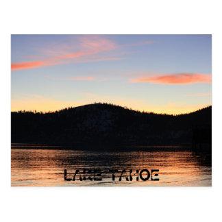 Cartão Postal Por do sol de Lake Tahoe com sombra 1