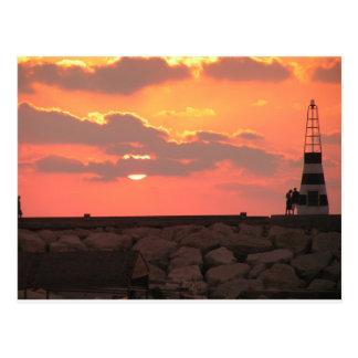 Cartão Postal Por do sol de Líbano