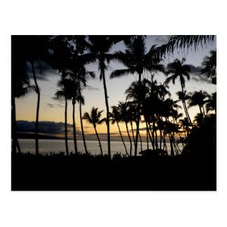 Cartão Postal Por do sol de Maui