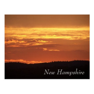 Cartão Postal Por do sol de New Hampshire