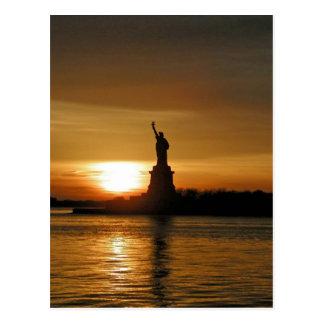 Cartão Postal Por do sol de New York