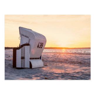 Cartão Postal Por do sol de Ostsee