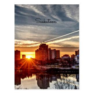 Cartão Postal Por do sol de Saskatoon
