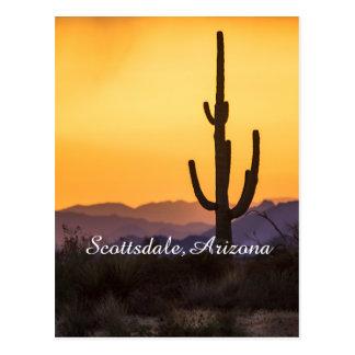 Cartão Postal Por do sol de Scottsdale antes da tempestade