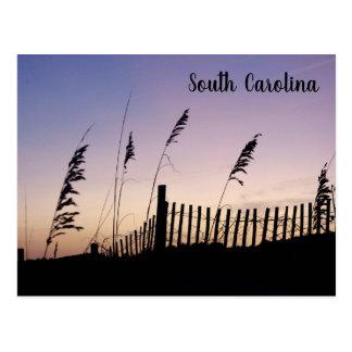 Cartão Postal Por do sol de South Carolina nas dunas de areia