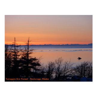 Cartão Postal Por do sol de Turnagain