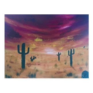 Cartão Postal Por do sol do deserto