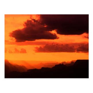 Cartão Postal Por do sol do Grand Canyon