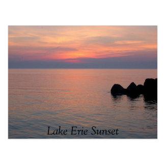 Cartão Postal Por do sol do Lago Erie