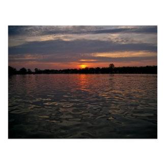 Cartão Postal Por do sol do lago Michigan
