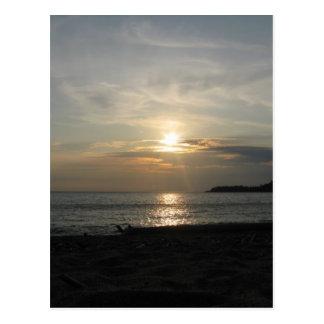 Cartão Postal Pôr do sol do Lago Superior