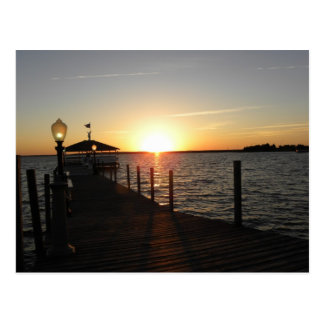 Cartão Postal Por do sol do miradouro de OC