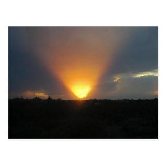 Cartão Postal Por do sol do monotrilho
