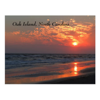 Cartão Postal Por do sol do oceano - ilha do carvalho, NC
