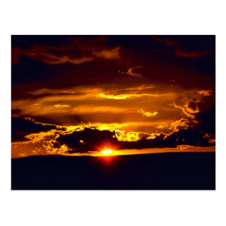 Cartão Postal Por do sol do parque nacional das cavernas de