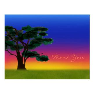 Cartão Postal Por do sol do savana pelos Feliz Juul Empresa