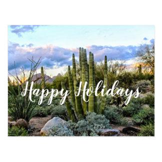 Cartão Postal Por do sol do Succulent de Scottsdale, Scottsdale,