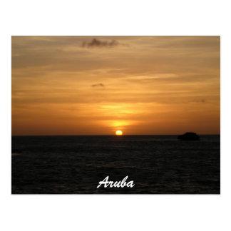 Cartão Postal Por do sol em Aruba