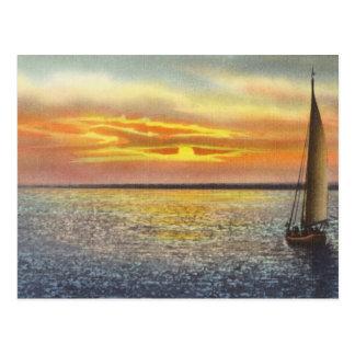 Cartão Postal Por do sol em Cape Cod